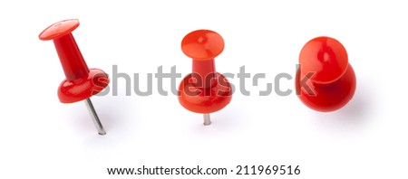 close-up of pins on white background Royalty-Free Stock Photo #211969516