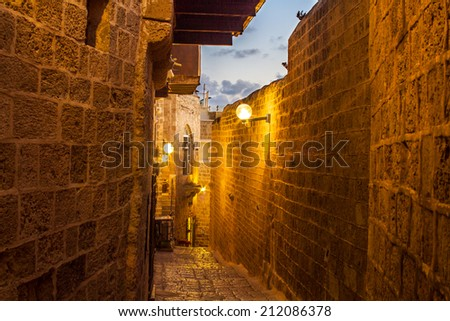 Beautiful photos in the streets of Old Jaffa port. Israel. #212086378