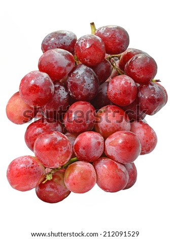 red grapes over white background #212091529