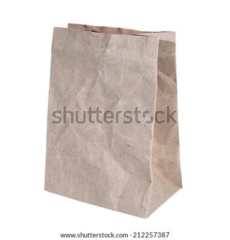 Green paper bag #212257387