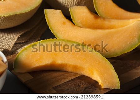 Health Organic Orange Cantaloupe All Cut Up #212398591