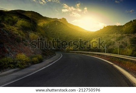 winding road in the mountain #212750596
