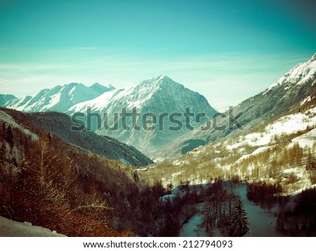 French mountain Alpe d'Huez winter #212794093