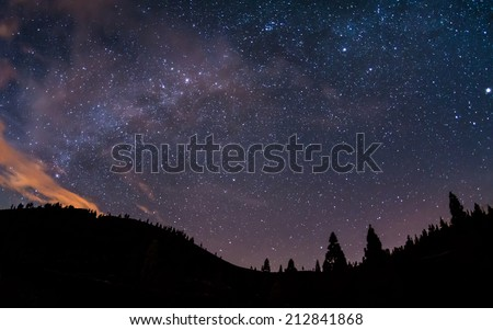 Milky Way above Teide National Park at Tenerife