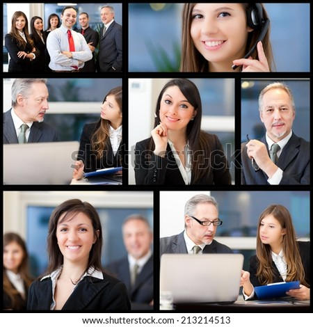 Composition of business people at work #213214513