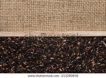 brown rice on sacking #213280858