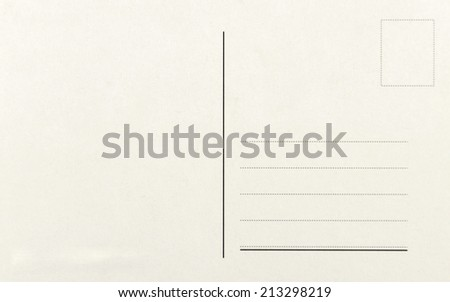 Blank postcards isolated in high resolution  Royalty-Free Stock Photo #213298219