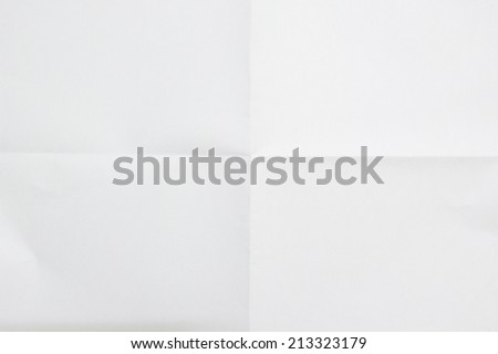 white sheet of paper folded in four #213323179