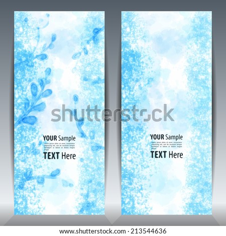 Template Invitation card. Hand drawn background for design and place for text, perfect for greeting cards, save the date and wedding cards. Colorful abstract vector. #213544636