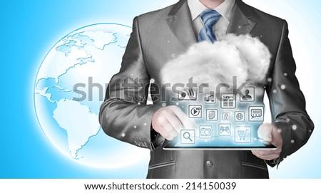 Cloud computing, technology connectivity concept #214150039