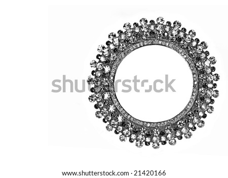 round frame with crystals