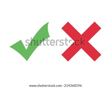 Check mark icons (flat design)