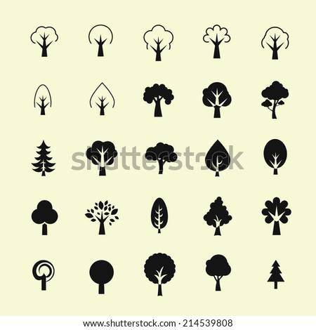 Tree icon set #214539808