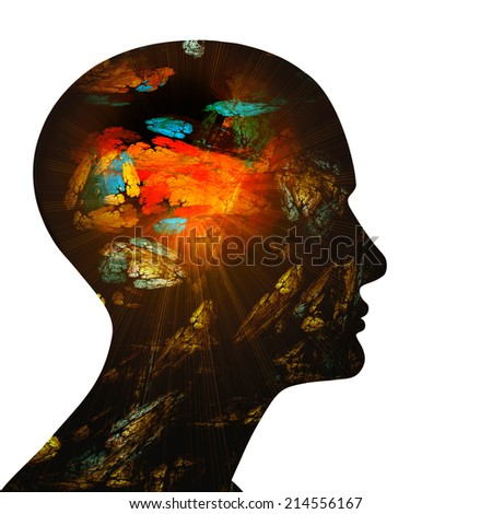 human head and white background #214556167