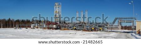 Refinery plant. Beautiful panorama view. #21482665