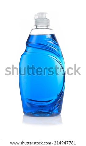 Blue Washing up Liquid Royalty-Free Stock Photo #214947781