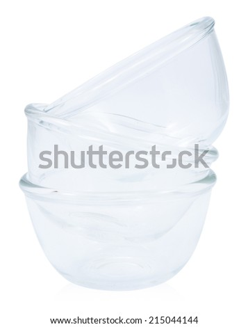 Glass bowl isolated on white background, file includes a excellent clipping path #215044144