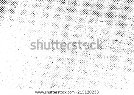 Grunge real organic vintage halftone vector ink print background Royalty-Free Stock Photo #215120233