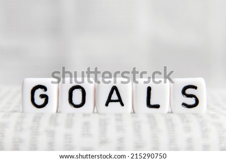 Goals word on white cube #215290750