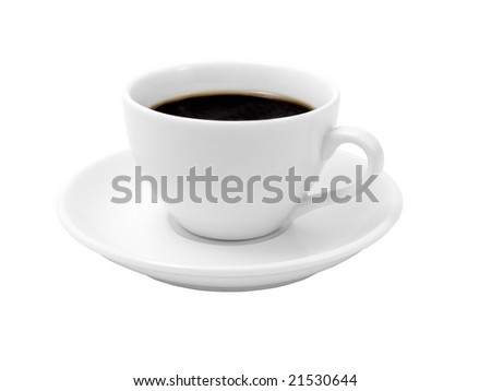 Cup of coffee on a white background (isolated with path). #21530644