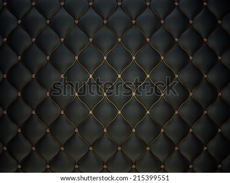 Black Buttoned luxury leather pattern with diamonds and gemstones. Useful as luxury pattern Royalty-Free Stock Photo #215399551