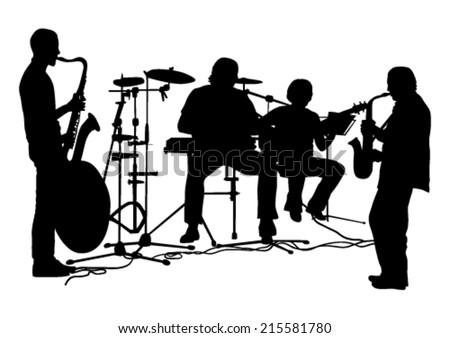 Musicians Silhouettes Set #215581780
