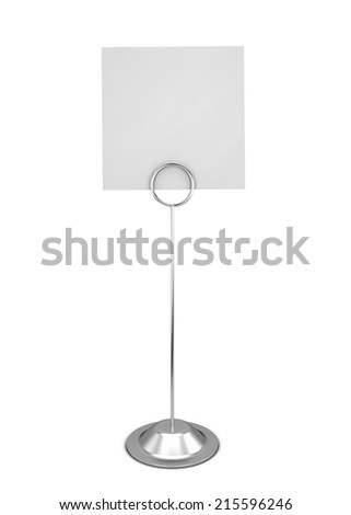 Note holder. 3d illustration isolated on white background