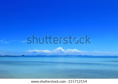 Summer seascape with blue sky background #215712154