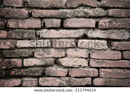 Background of brick wall texture #215744614