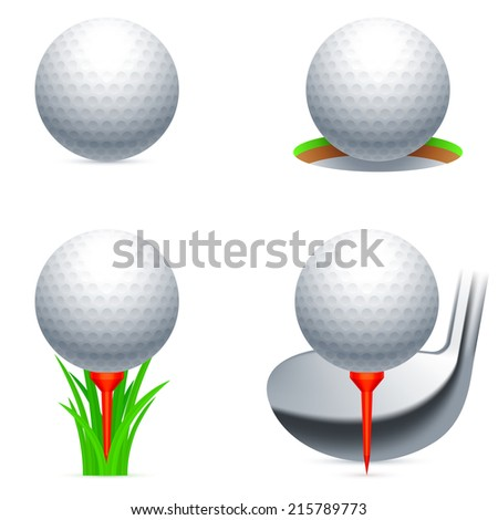 Set of golf balls and accessories.