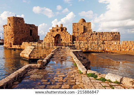 Sidon Sea Castle - Sidon, Lebanon Royalty-Free Stock Photo #215886847