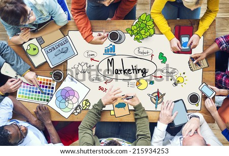 Diverse People Working and Marketing Concept Royalty-Free Stock Photo #215934253