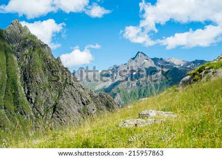 Mountain landscape in Valbondione, Bergamo, Italy #215957863