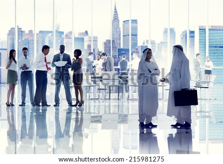 Diverse Business People Working in a Board Room #215981275