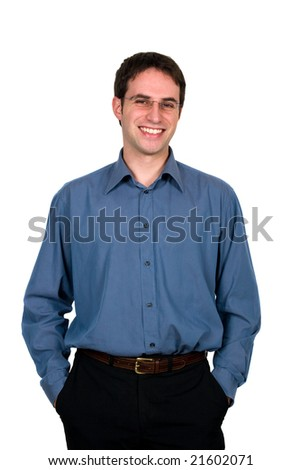 Portrait of a smiling young businessman #21602071