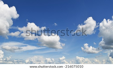 Sky with clouds #216075010