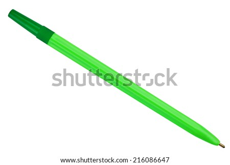 ballpoint pen isolated on white background #216086647