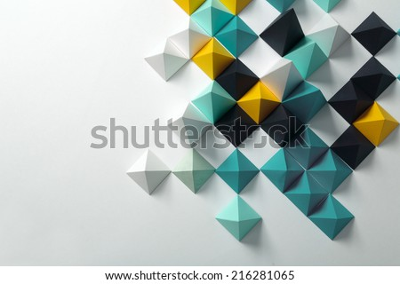 Geometric origami background