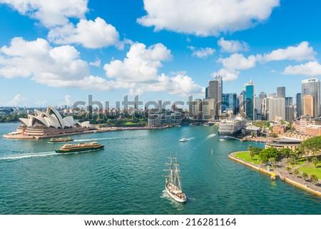 Circular Quay, Sydney, NSW, Australia Royalty-Free Stock Photo #216281164