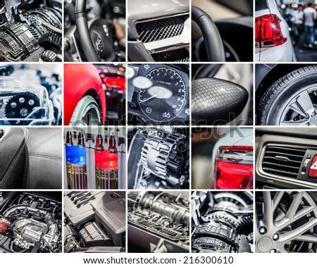 Car details collage #216300610