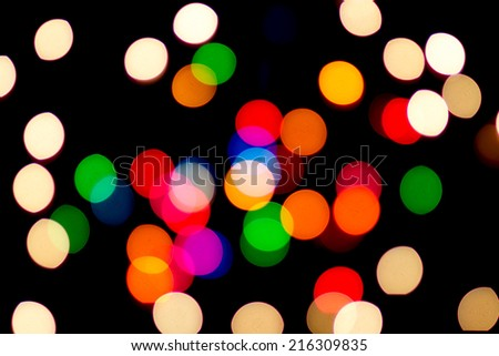 Abstract blurred light on black backgrounds,out of focused concept. #216309835