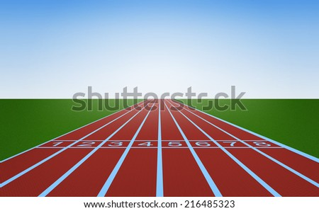 Running track and start position #216485323