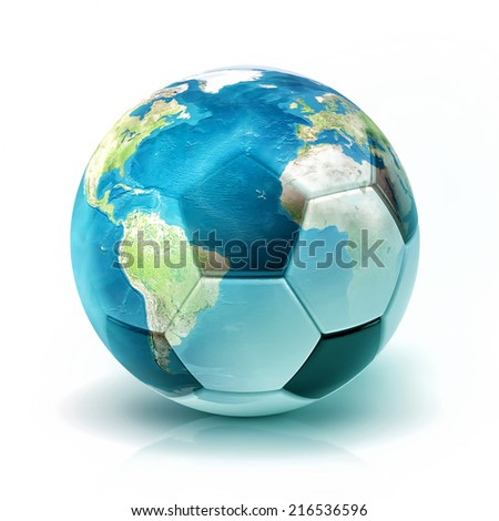 World soccer (Elements of this image furnished by NASA) #216536596