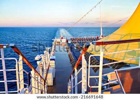 Morning view from deck of cruise ship #216691648