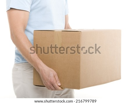 Carrying a box #216799789