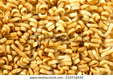 Image of close up instant noodles on white background #216918640