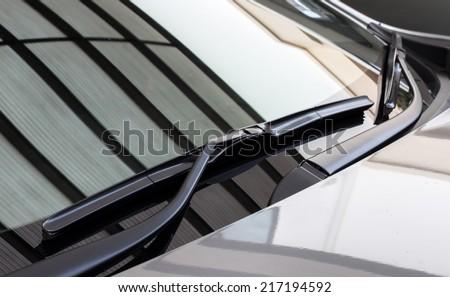 car's windshield rain wiper Royalty-Free Stock Photo #217194592