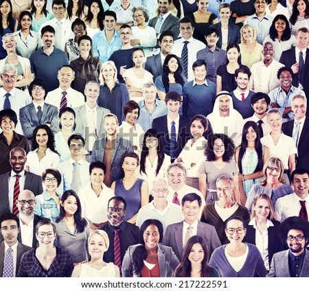 Multiethnic Group of People Smiling #217222591