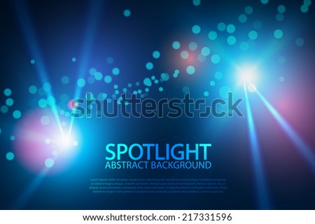 Blue spotlight for your design. Vector illustration
