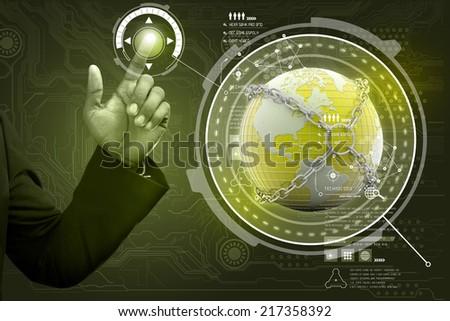 Smart hand showing futuristic technology #217358392